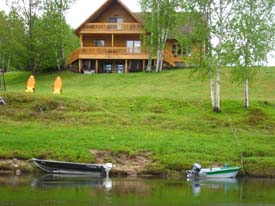 Our main lodge on the banks of the Miramichi River
